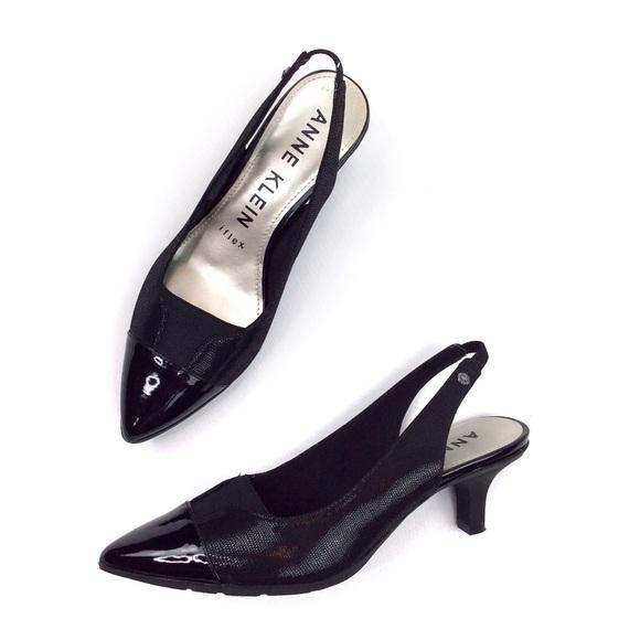 Black Slingback Heels Size 6m